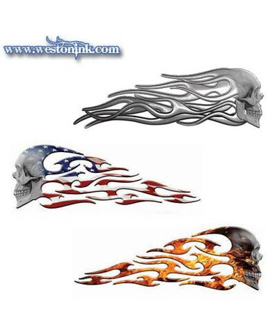 Picture for category Evil Skull Flame Decals