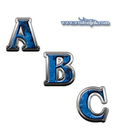 Picture for category Reflective Inferno Blue Decals