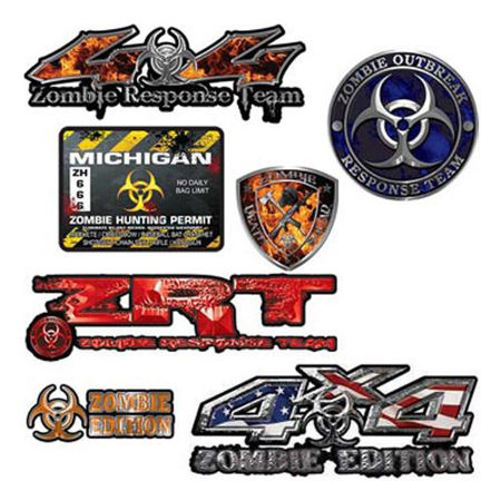 Picture for category Zombie Decals, Stickers and Emblems