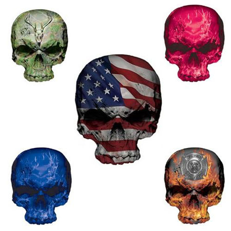 Picture for category Skull Decals and Stickers