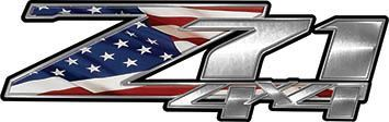 Z71 4x4 Decals with American Flag