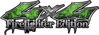 Twisted Series 4x4 Truck, SUV, ATV, SbS, Fire Fighter Edition Decals Inferno Green Realistic Flames