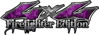 Twisted Series 4x4 Truck, SUV, ATV, SbS, Fire Fighter Edition Decals Inferno Purple Realistic Flames