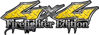 Twisted Series 4x4 Truck, SUV, ATV, SbS, 4x4 FireFighter Edition Decals in Diamond Plate Yellow