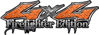 Twisted Series 4x4 Truck, SUV, ATV, SbS, 4x4 FireFighter Edition Decals in Diamond Plate Orange