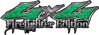 Twisted Series 4x4 Truck, SUV, ATV, SbS, 4x4 FireFighter Edition Decals in Diamond Plate Green