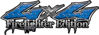 Twisted Series 4x4 Truck, SUV, ATV, SbS, 4x4 FireFighter Edition Decals in Diamond Plate Blue