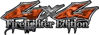 Twisted Series 4x4 Truck, SUV, ATV, SbS, 4x4 FireFighter Edition Decals in Camo Orange