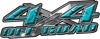 4x4 Off Road Truck, SUV, ATV, Side By Side Decals in Teal Diamond Plate