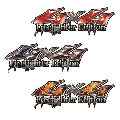 4x4 Firefighter Edition Decals from Weston Ink