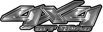 4x4 Offroad Truck, SUV, ATV, Side By Side, Golf Cart Fender Emblem or Bedside Decals In Silver
