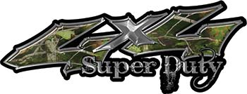 Super Duty Twisted Series 4x4 Truck Bedside or Fender Emblem Decals in Camo