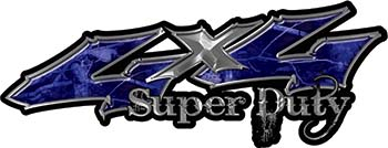Super Duty Twisted Series 4x4 Truck Bedside or Fender Emblem Decals in Camo Blue
