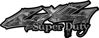 Super Duty Twisted Series 4x4 Truck Bedside or Fender Emblem Decals in Camo Gray