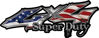 Super Duty Twisted Series 4x4 Truck Bedside or Fender Emblem Decals with American Flag