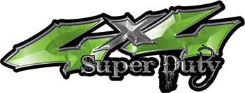 Super Duty Twisted Series 4x4 Truck Bedside or Fender Emblem Decals in Green