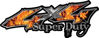 Super Duty Twisted Series 4x4 Truck Bedside or Fender Emblem Decals with Inferno Flames