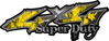 Super Duty Twisted Series 4x4 Truck Bedside or Fender Emblem Decals with Inferno Yellow Flames