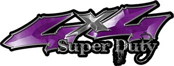 Super Duty Twisted Series 4x4 Truck Bedside or Fender Emblem Decals in Purple