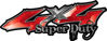 Super Duty Twisted Series 4x4 Truck Bedside or Fender Emblem Decals in Red