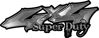 Super Duty Twisted Series 4x4 Truck Bedside or Fender Emblem Decals in Silver