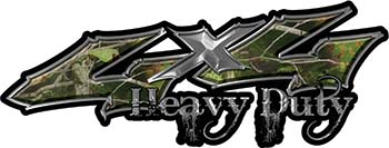 Heavy Duty Twisted Series 4x4 Truck Bedside or Fender Emblem Decals in Camo