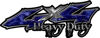 Heavy Duty Twisted Series 4x4 Truck Bedside or Fender Emblem Decals in Camo Blue