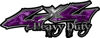 Heavy Duty Twisted Series 4x4 Truck Bedside or Fender Emblem Decals in Camo Purple