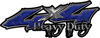 Heavy Duty Twisted Series 4x4 Truck Bedside or Fender Emblem Decals in Diamond Plate Blue