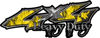 Heavy Duty Twisted Series 4x4 Truck Bedside or Fender Emblem Decals with Inferno Yellow Flames
