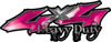Heavy Duty Twisted Series 4x4 Truck Bedside or Fender Emblem Decals in Pink