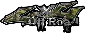 Off Road Twisted Series 4x4 Truck Bedside or Fender Emblem Decals in Camo
