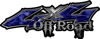 Off Road Twisted Series 4x4 Truck Bedside or Fender Emblem Decals in Camo Blue