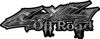 Off Road Twisted Series 4x4 Truck Bedside or Fender Emblem Decals in Camo Gray