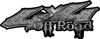 Off Road Twisted Series 4x4 Truck Bedside or Fender Emblem Decals in Diamond Plate