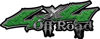 Off Road Twisted Series 4x4 Truck Bedside or Fender Emblem Decals in Diamond Plate Green