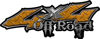 Off Road Twisted Series 4x4 Truck Bedside or Fender Emblem Decals in Diamond Plate Orange