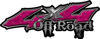 Off Road Twisted Series 4x4 Truck Bedside or Fender Emblem Decals in Diamond Plate Pink
