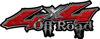 Off Road Twisted Series 4x4 Truck Bedside or Fender Emblem Decals in Diamond Plate Red