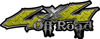 Off Road Twisted Series 4x4 Truck Bedside or Fender Emblem Decals in Diamond Plate Yellow
