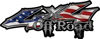 Off Road Twisted Series 4x4 Truck Bedside or Fender Emblem Decals with American Flag