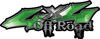 Off Road Twisted Series 4x4 Truck Bedside or Fender Emblem Decals in Green