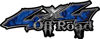 Off Road Twisted Series 4x4 Truck Bedside or Fender Emblem Decals with Inferno Blue Flames