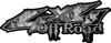 Off Road Twisted Series 4x4 Truck Bedside or Fender Emblem Decals with Inferno Gray Flames
