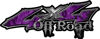 Off Road Twisted Series 4x4 Truck Bedside or Fender Emblem Decals with Inferno Purple Flames
