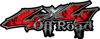 Off Road Twisted Series 4x4 Truck Bedside or Fender Emblem Decals with Inferno Red Flames