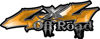 Off Road Twisted Series 4x4 Truck Bedside or Fender Emblem Decals with Inferno Orange Flames