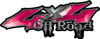 Off Road Twisted Series 4x4 Truck Bedside or Fender Emblem Decals in Pink