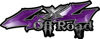 Off Road Twisted Series 4x4 Truck Bedside or Fender Emblem Decals in Purple