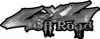 Off Road Twisted Series 4x4 Truck Bedside or Fender Emblem Decals in Silver